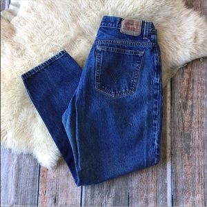 Levi's 550 High Rise Relaxed Fit Cropped Jeans